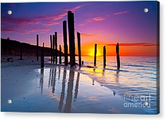 Port Willunga Sunset Acrylic Print