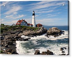Portland Head Lighthouse Acrylic Print by Georgia Fowler