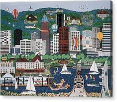 Portland Waterfront Acrylic Print
