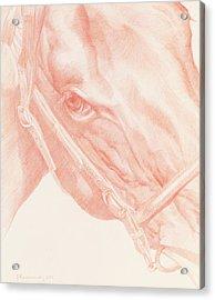 Portrait Head Acrylic Print by Emma Kennaway