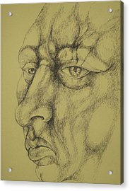 Portrait Acrylic Print by Moshfegh Rakhsha