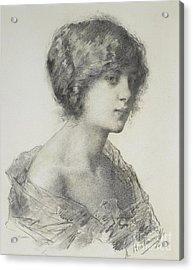 Portrait Of A Girl Acrylic Print