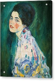 Portrait Of A Young Woman Acrylic Print by Gustav Klimt