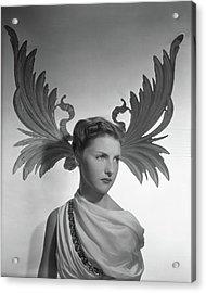 Portrait Of Cynthia Boissevain Acrylic Print by Horst P. Horst