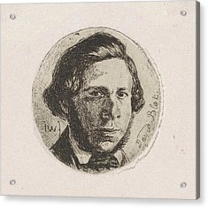 Portrait Of David Block, Jan Weissenbruch Acrylic Print