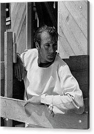 Portrait Of Gary Cooper Acrylic Print by George Hoyningen-Huene