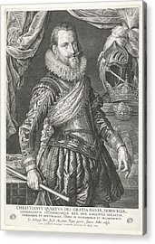 Portrait Of King Christian Iv Of Denmark And Norway Acrylic Print by Jan Harmensz. Muller