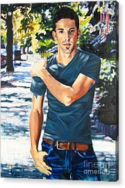 Portrait Of Musician Kyle Jones Acrylic Print