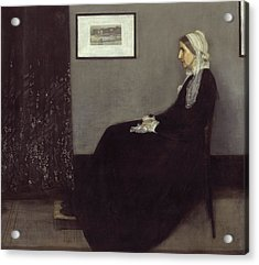 Portrait Of The Artists Mother Acrylic Print by James Abbott McNeill Whistler