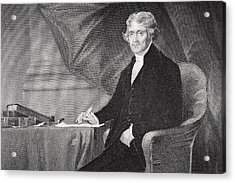 Portrait Of Thomas Jefferson Acrylic Print by Alonzo Chappel
