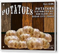 Potato Farm Acrylic Print by Marvin Blaine
