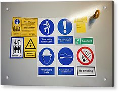 Ppe Instruction Acrylic Print by Ashley Cooper
