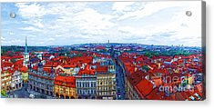 Prague - Panorame Acrylic Print