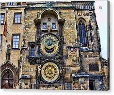 Prague - Astronomical Clock Acrylic Print by Jon Berghoff