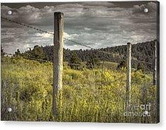 Prairie Fence Acrylic Print