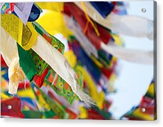 Prayer Flags Acrylic Print