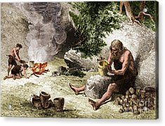 Prehistoric Potter Acrylic Print by Science Source