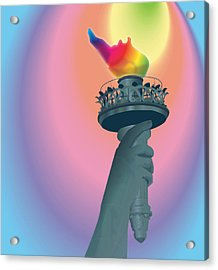 Prejudice To Pride Acrylic Print by Terry Cork