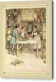 Preparing Food Acrylic Print by British Library