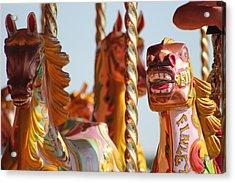 Pretty Carousel Horses Acrylic Print