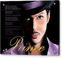 Prince Acrylic Print by Timothy Ramos