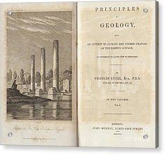 Principles Of Geology 1830 Acrylic Print by King's College London
