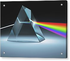 Prism And Rainbow Acrylic Print by Ktsdesign