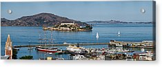 Prison On An Island, Alcatraz Island Acrylic Print by Panoramic Images