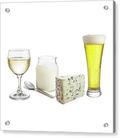 Products Of Fermentation Acrylic Print by Science Photo Library