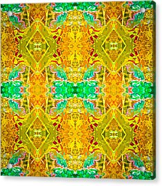 Acrylic Print featuring the photograph Psychedelic Diamond by  Onyonet  Photo Studios