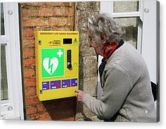 Public Defibrillator Acrylic Print