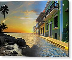 Puerto Rico Collage 4 Acrylic Print by Stephen Anderson
