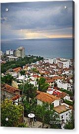 Puerto Vallarta And Pacific Ocean Acrylic Print