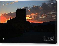 Puesta De Sol En El Castillo De Ainsa Acrylic Print