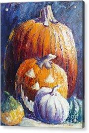 Pumpkin Happy Face Acrylic Print