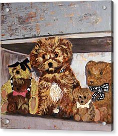 Puppy And Bears Acrylic Print