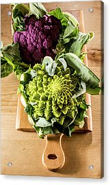 Purple And Romanesque Cauliflowers Acrylic Print by Aberration Films Ltd