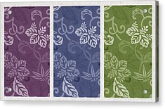 Purple Blue Green Acrylic Print by Aged Pixel