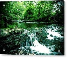 Putney Pond Acrylic Print by Andrew Martin