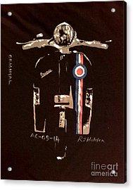 Quadrophenia - Vespa Acrylic Print by Richard John Holden RA