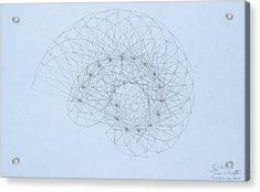 Quantum Nautilus Acrylic Print by Jason Padgett