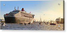 Queen Mary 2 Acrylic Print by Marc Huebner