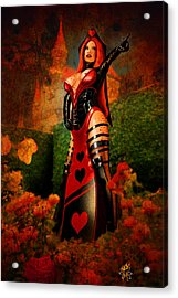 Queen Of Hearts Acrylic Print