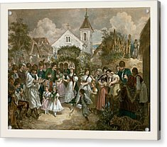 Queen Of Pentecost, Hungary, 19th Century, Village Party Acrylic Print by Hungarian School