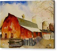 Quiet Red Barn Acrylic Print