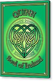 Quinn Soul Of Ireland Acrylic Print