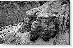 Qumran Cave 4 Bw Acrylic Print