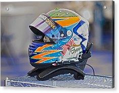 Racing Helmet 2 Acrylic Print by Dave Koontz