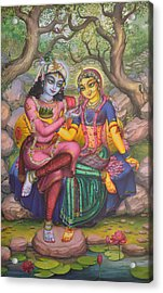 Radha And Krishna Acrylic Print