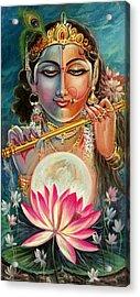 Radha Krishna Acrylic Print by Mayur Sharma